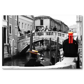 Αφίσα (venezia, μαύρο, λευκό, άσπρο)